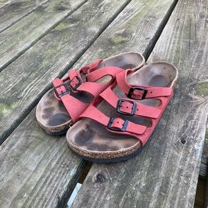 Three Strap Birkenstock Sandals Size 35
